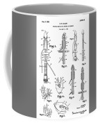 Patent Drawing For The 1966 Medical Device For Control Of Enemata By R. E. Miller Coffee Mug