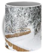 Path In Snow Coffee Mug