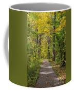 Path In The Woods During Fall Leaf Season Coffee Mug
