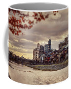 Pathway Along Kamo River In A Beautiful Dramatic Autumn Sunset S Coffee Mug
