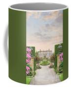 Pathway Leading To A Mansion Through Beautiful Gardens Coffee Mug