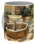 Patio Fountain In Seville Coffee Mug