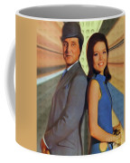 Patrick Macnee And Diana Rigg, The Avengers Coffee Mug