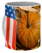 Patriotic American Pumpkin Coffee Mug