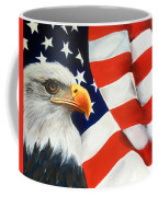 Patriotic Eagle And Flag Coffee Mug