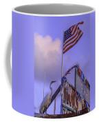 Patriotic Egret Coffee Mug