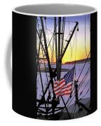 Patriotic Fisherman Coffee Mug