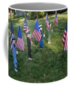 Patriotic Lawn Ornaments Represent Coffee Mug