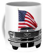 Patriotic Mustang On White Coffee Mug