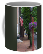 Patriotic Street In Philadelphia Coffee Mug