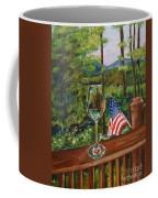 Star Spangled Wine - Fourth Of July - Blue Ridge Mountains Coffee Mug