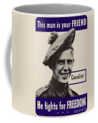 Patriotic World War 2 Poster Us Allies Canada Coffee Mug