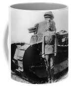 Patton Beside A Renault Tank - Wwi Coffee Mug