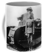 Patton Beside A Renault Tank - Wwi Coffee Mug