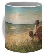 Paul Fischer, 1860-1934, Girls On The Beach Coffee Mug