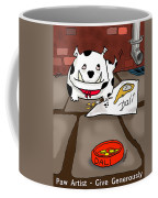 Paw Artist Give Generously Coffee Mug