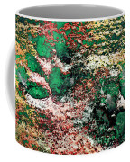 Paw Prints In Green And Red And Yellow Coffee Mug