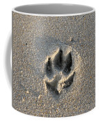 Pawprint In The Sand Coffee Mug