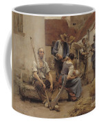 Paying The Harvesters Coffee Mug by Leon Augustin Lhermitte