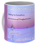 Peace And Love For Christmas Card Coffee Mug