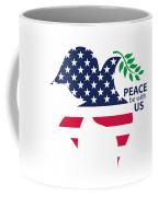 Peace Be With Us Coffee Mug
