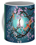 Peace Tree With Orange Dragonflies Coffee Mug