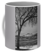 Peaceful Early Morning Sunrise Longs Peak View Bw Coffee Mug