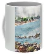 Peaceful Morning At The Harbor  Coffee Mug