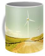 Peaceful Pastel Wind Farm Coffee Mug