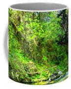 Peaceful Small Creek Under Kinsol Trestle, Vancouver Island, Bc, Canada 1. Coffee Mug