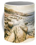 Peaceful Sun Flared Australian Coastline Coffee Mug