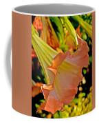 Peach Angel's Trumpet At Pilgrim Place In Claremont-california Coffee Mug