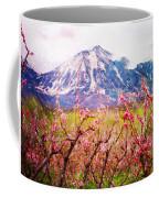 Peach Blossoms And Mount Lamborn II Coffee Mug
