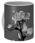 Peach Blossoms In Grayscale Coffee Mug