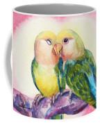 Peach-faced Lovebirds Coffee Mug