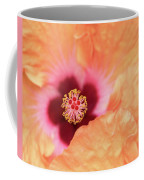 Peach Hibiscus - Macro Coffee Mug