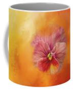 Peach Pansy Coffee Mug