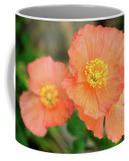 Peach Poppies Coffee Mug