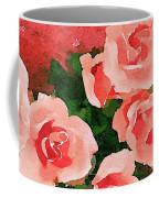 Peach Roses Coffee Mug