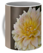 Peaches And Cream Dahlia Coffee Mug