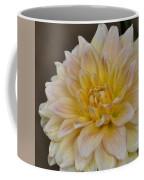 Peaches And Cream Dahlia Coffee Mug