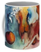 Peaches Coffee Mug by Laura Joan Levine