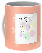 Peachy Pink Wabi Sabi Time Coffee Mug