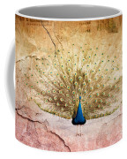 Peacock Bird Textured Background Coffee Mug