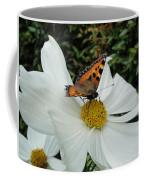 Peacock Butterfly On Cosmos Coffee Mug