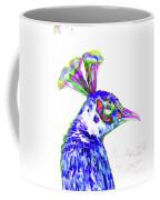 Peacock Closeup Coffee Mug