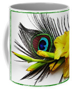 Peacock Feather And Gladiola 4 Coffee Mug