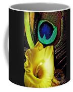Peacock Feather And Gladiola Coffee Mug