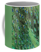 Peacock Feather Pattern Coffee Mug