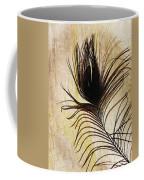 Peacock Feather Silhouette Coffee Mug